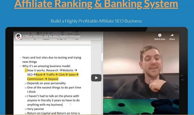 Affiliate Ranking & Banking System - Earn 100k per Year